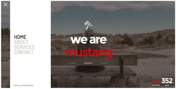 Mustang || Responsive Coming Soon Page - Under Construction Specialty Pages