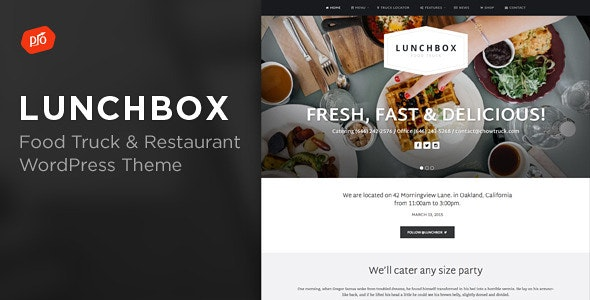 Lunchbox - Food Truck & Restaurant Theme - Restaurants & Cafes Entertainment
