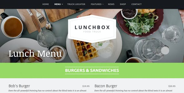 Lunchbox - Food Truck & Restaurant Theme
