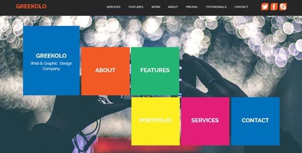 Greekolo - Multi-purpose Muse Template - Creative Muse Templates