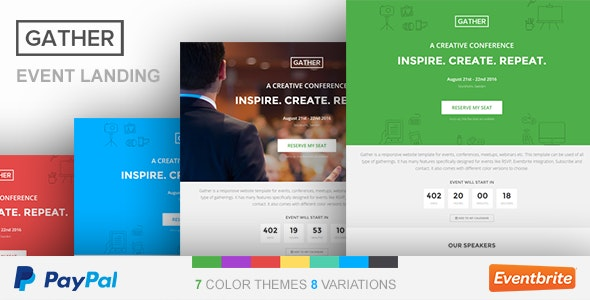 Event Landing Page Template - Gather - Events Entertainment
