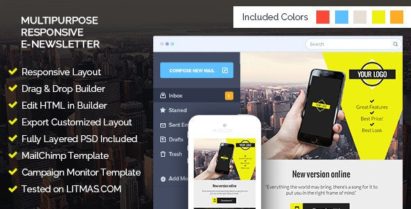 Corporate Email Template + Builder Access - Email Templates Marketing