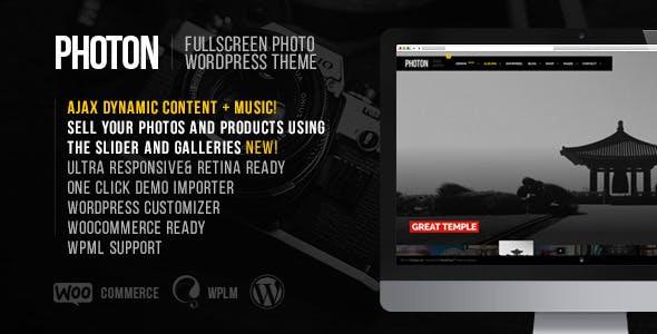 Photon   Fullscreen Photography WordPress Theme