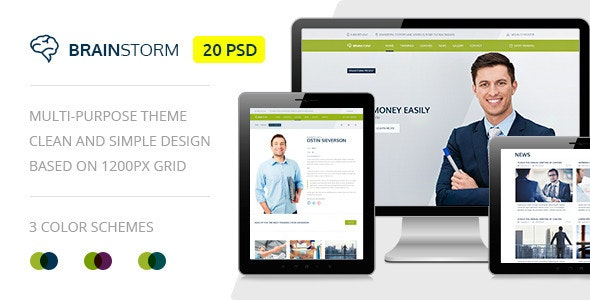 BrainStorm — Multipurpose Event, Training, Workshop PSD Template - Miscellaneous Photoshop