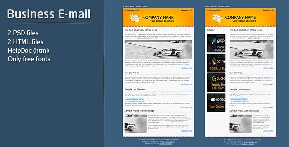 Business E-mail Template - Newsletters Email Templates