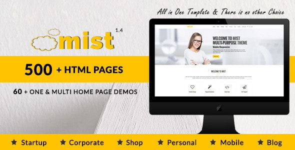 Mist | Multi-Purpose HTML5 Responsive Template - Corporate Site Templates