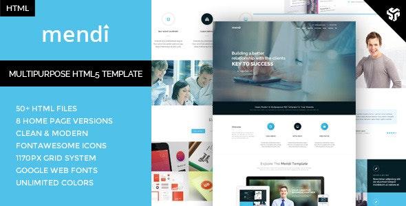 Mendi - MultiPurpose Corporate HTML5 Template - Business Corporate