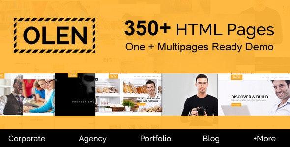 OLEN - Multipurpose Responsive Corporate HTML5 Template - Business Corporate