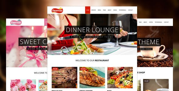 Frattini | A Premium Restaurant, Cakes and Coffee Shop Template