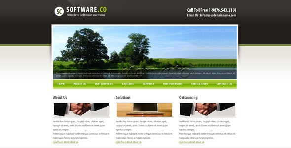 Software Co Html Template - Corporate Site Templates