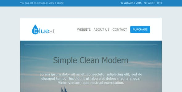 Bluest - Responsive Email Template + Online Editor