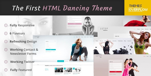 One Step - Creative Ballet HTML Template - Entertainment Site Templates