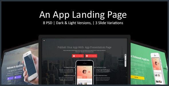 App Landing Page - Marketing Corporate