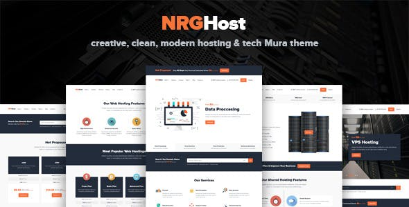Download NRGHost - Hosting, Tech & Service Provider Theme