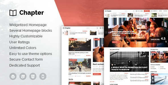 Chapter - WordPress Magazine Theme - Blog / Magazine WordPress
