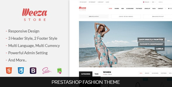 SNS Weeza - Responsive Prestashop Theme - PrestaShop eCommerce