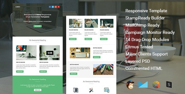 Corpo - responsive email template - Email Templates Marketing