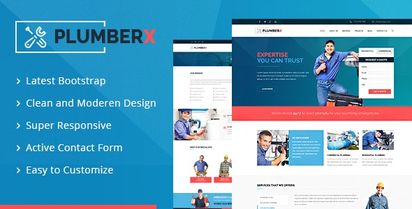 Plumberx - Plumber and Construction HTML Template - Business Corporate