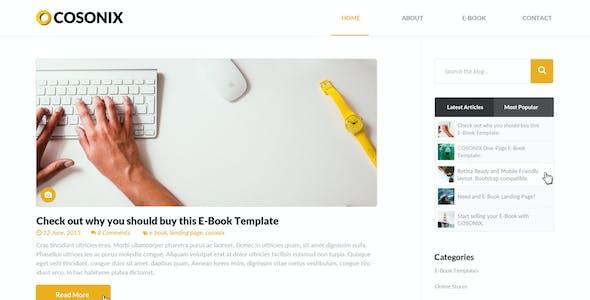 Cosonix One-Page E-Book PSD Template