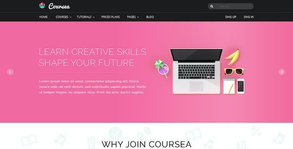 Coursea - Online Tutorials & Courses Template