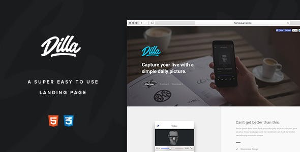 Dilla - Easy To Use Landing Page