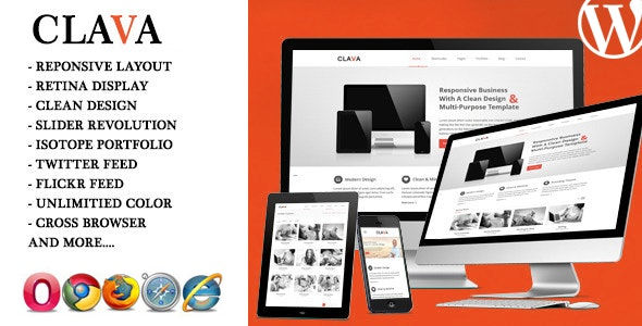 Clava - Responsive Multi-Purpose WordPress Theme - Corporate WordPress