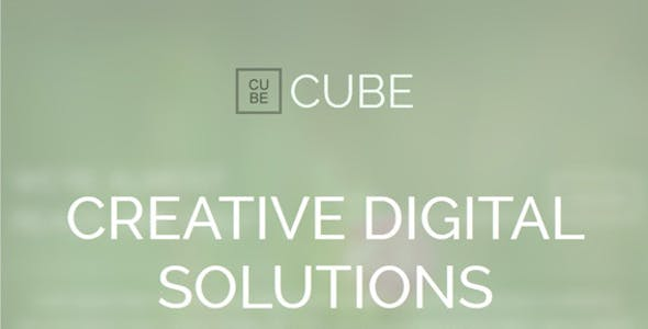 Cube - Animation Responsive Coming Soon Page