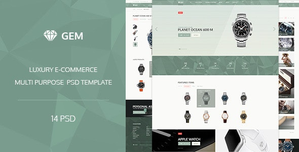 Gem — Luxury E-Commerce PSD theme - Shopping Retail