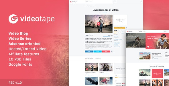 VideoTape PSD Template - Miscellaneous Photoshop