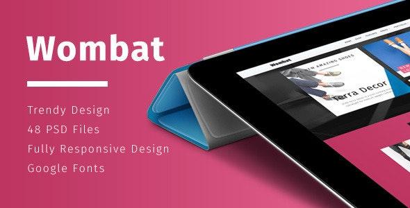 Wombat – Multi-Purpose eCommerce PSD Template - Retail Photoshop