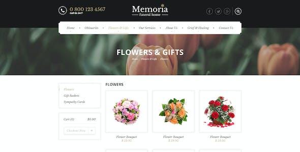 Memoria - Funeral Home HTML Template