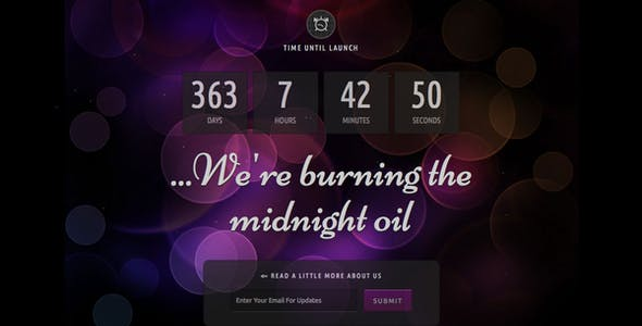 Midnight Oil - Coming Soon Html Template