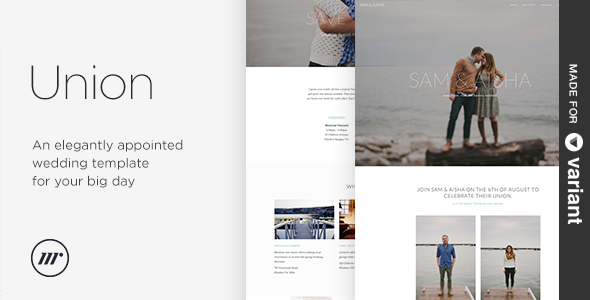 Union - Wedding Template with Page Builder - Wedding Site Templates