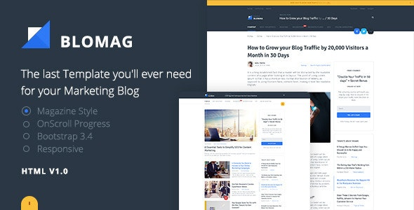 BloMag HTML5 Template - Exclusively for Marketers - Marketing Corporate