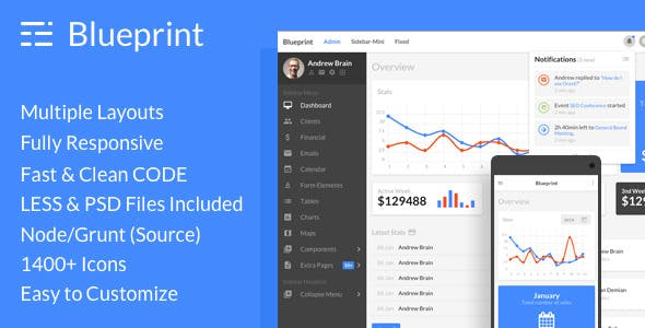 Blueprint Templates from ThemeForest