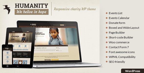 Humanity - Charity WordPress