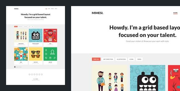 Mimesi - Creative Portfolio Theme for Tumblr by Understandable_co