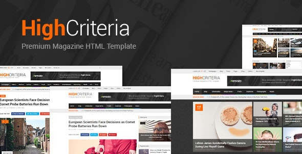 HighCriteria - Clean Multipurpose Magazine HTML - Technology Site Templates