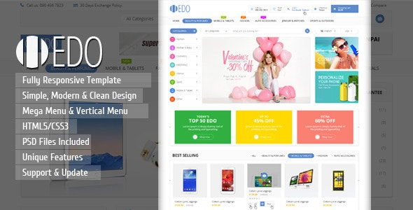 EDO - Ecommerce Responsive HTML Template - Shopping Retail