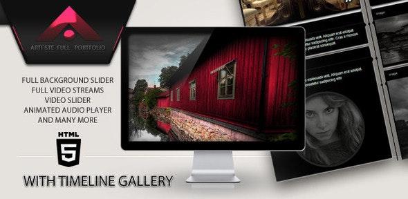Artiste - Pictures, Videos & Music Portfolio - Portfolio Creative