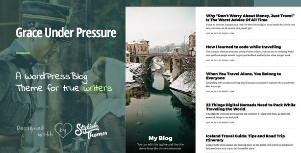 GraceUnderPressure ­| Responsive Theme Optimised for Touch - Personal Blog / Magazine