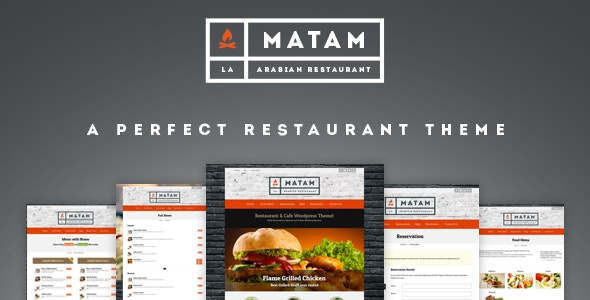 Mataam - Responsive Restaurant Wordpress Theme - Restaurants & Cafes Entertainment