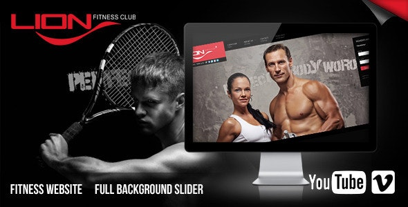 Lion Fitness Club Website - Site Templates