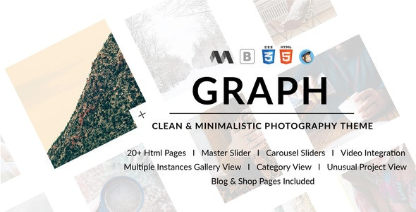 GRAPH - Clean & Minimal Photography Template - Photography Creative