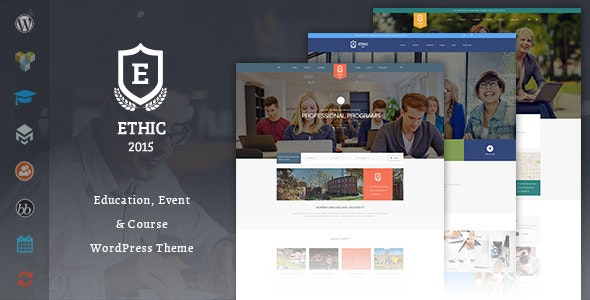 Education, Event and Course - ETHIC LMS Theme - Education WordPress