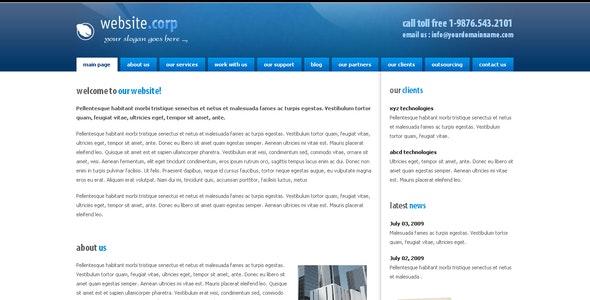 Website Corp  - Experimental Creative