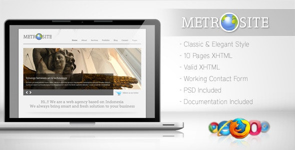 Metrosite - Classic Business Template - Corporate Site Templates