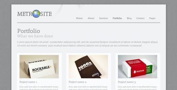 Metrosite - Classic Business Template