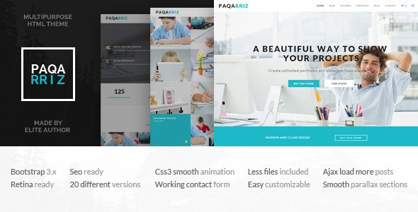 Paqarriz - Multipurpose HTML5 Template - Business Corporate