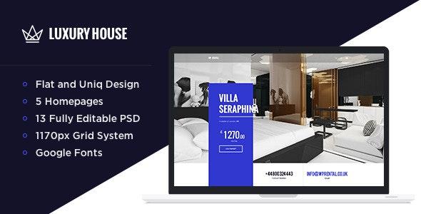 Luxury House - Real Estate PSD - Retail Photoshop